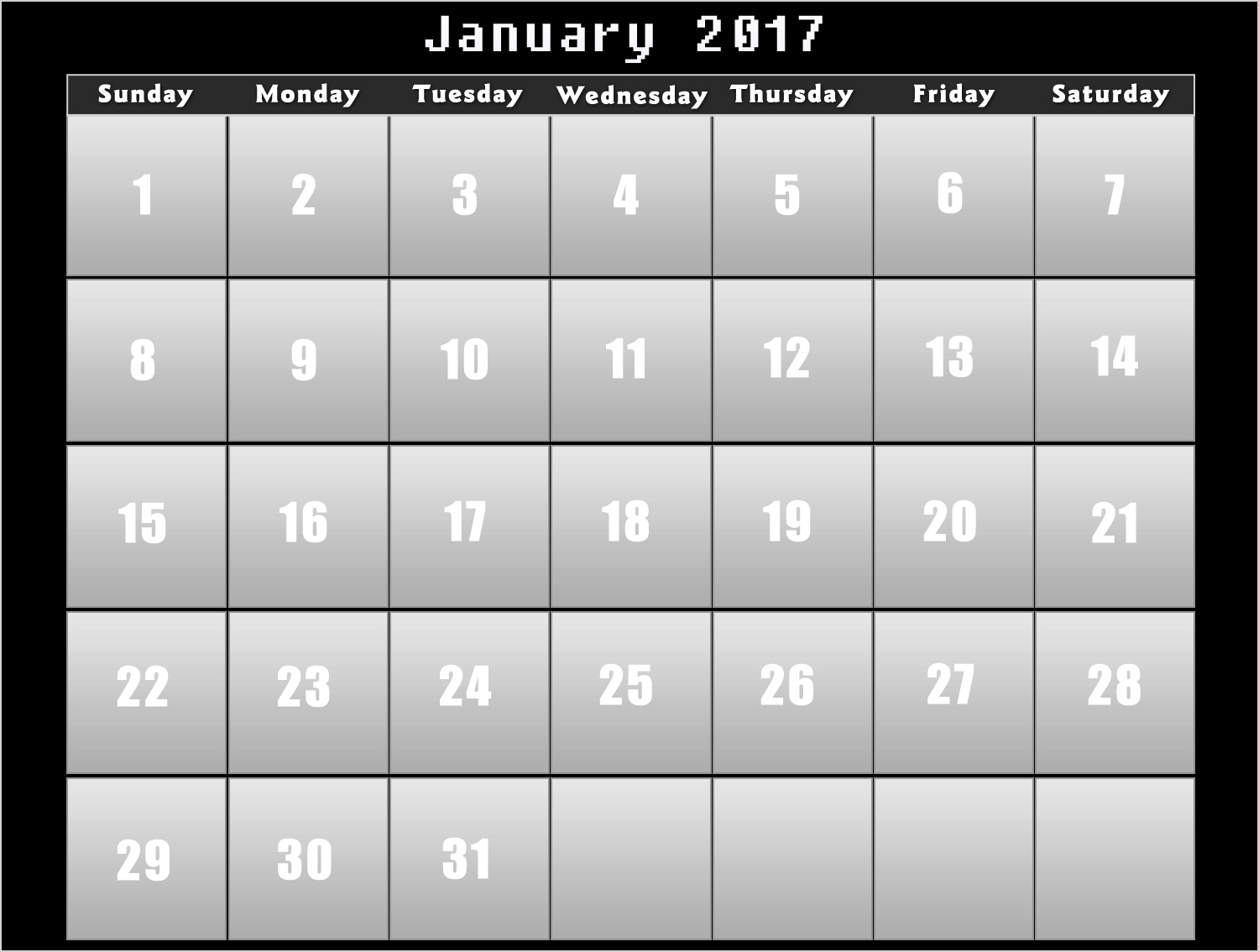 Calendar 2017 – Download Printable calendars of 2017 for free and ...