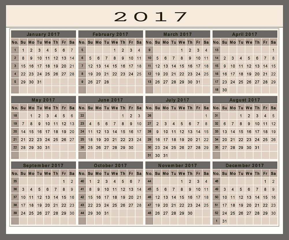 Download 2017 calendar free