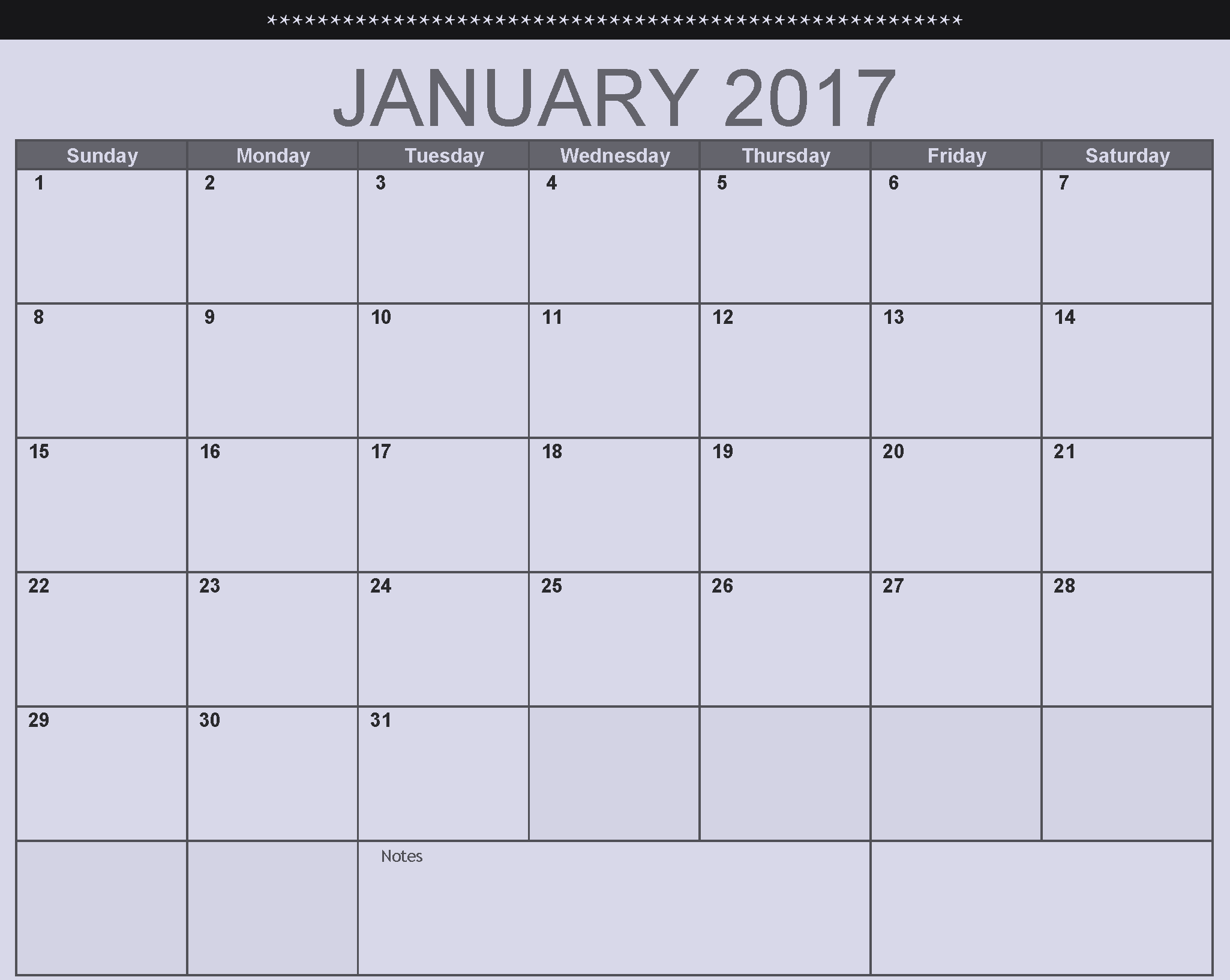 January Monthly Calendar : Calendar download printable calendars of for free
