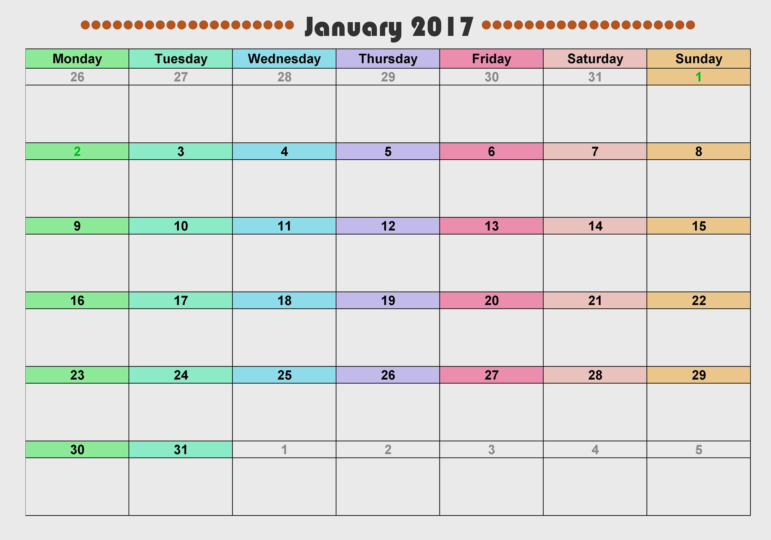 Jan Monthly Calendar : Calendar download printable calendars of for free