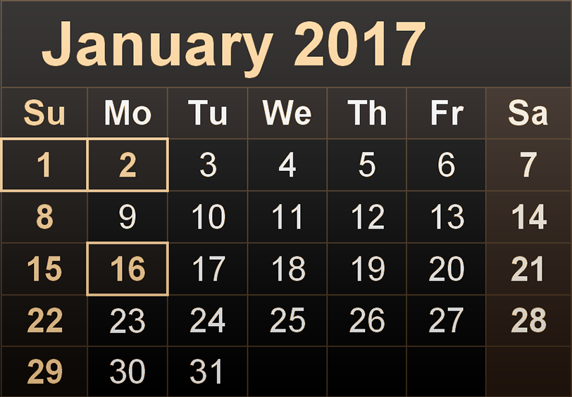 Download january 2017 calendar