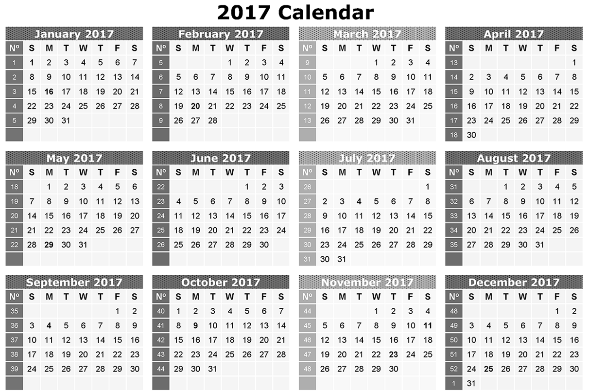 Download calendar 2017 Free