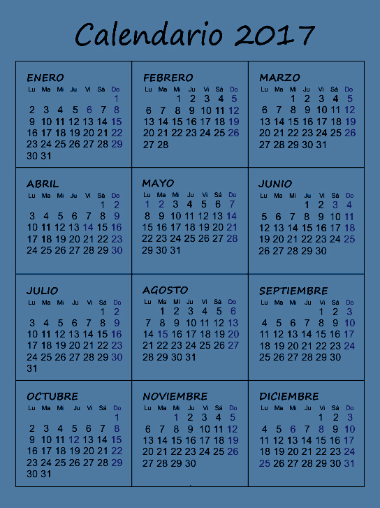 Published December 19, 2016 at 544 × 727 in Calendario 2017 gratis ...
