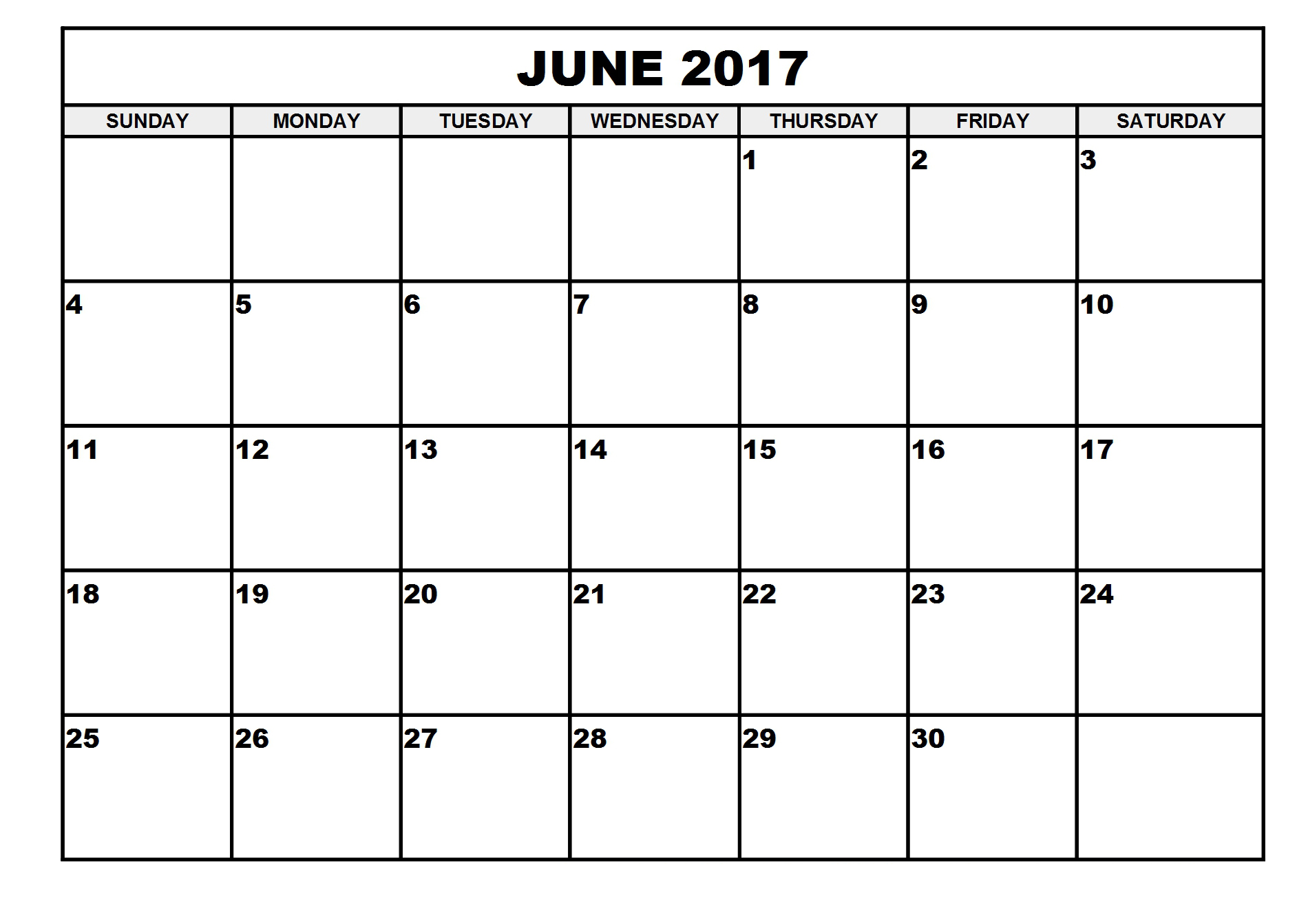 July 2017 calendar monthly free