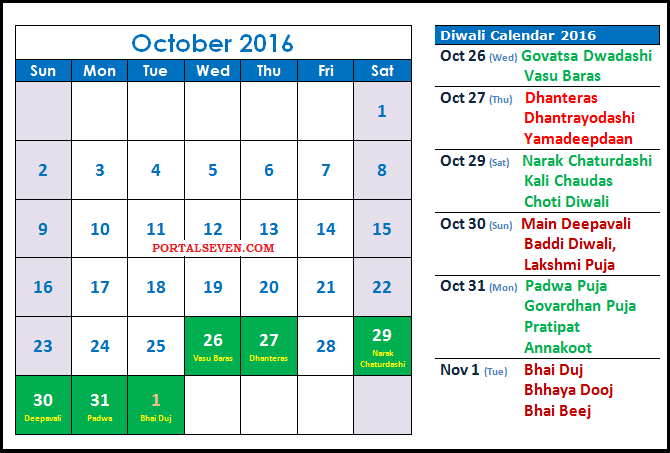 Diwali 2017 Calendar With Festivals List 2019 Calendar Printable 2018 Download 2017 Calendars Free