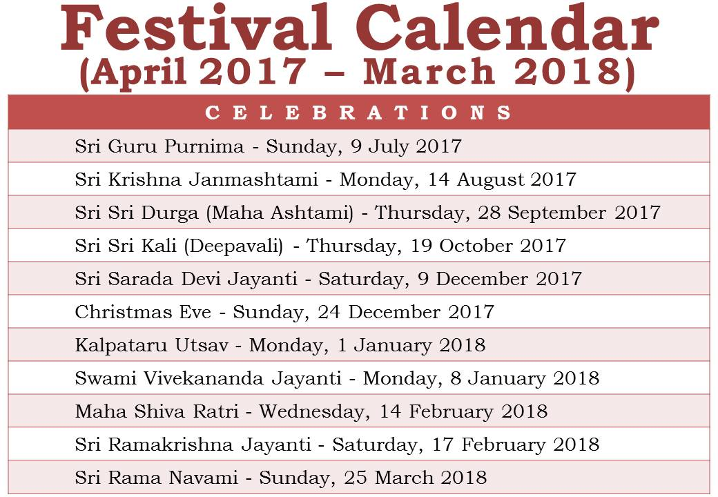Calendar 2018 all festival | 2017 Calendar printable for Free ...
