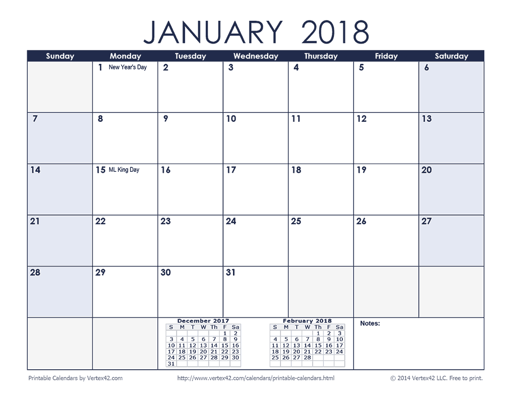 Free Printable Monthly Calendars. This style expands the date blocks to the entire width of the page giving you more room to write important information for each day.